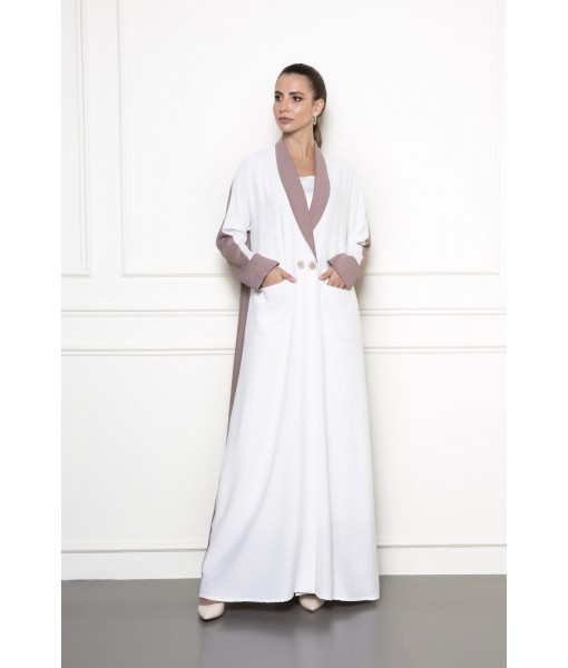 Double-breasted coat abaya