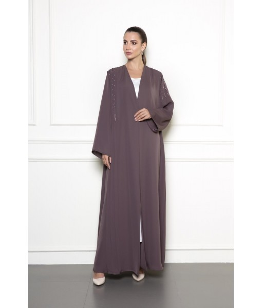 Pleated details abaya