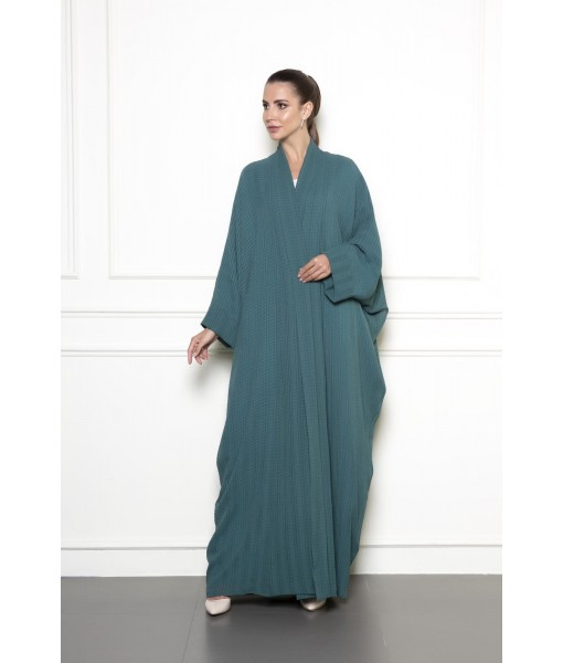 Classic textured green abaya