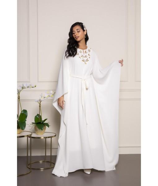 White kimono kaftan with ...