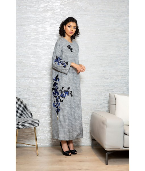 Embroidered Floral Abaya