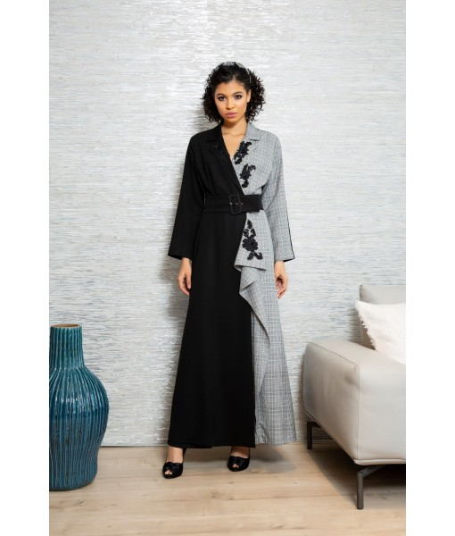 Asymmetric Double breasted Coat style abaya ...