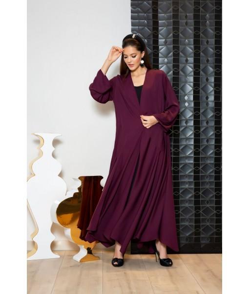 Classic abaya with handkerchief hem