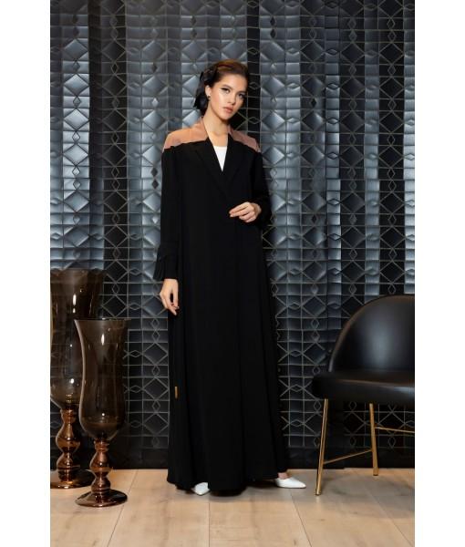 Two tone coat style abaya