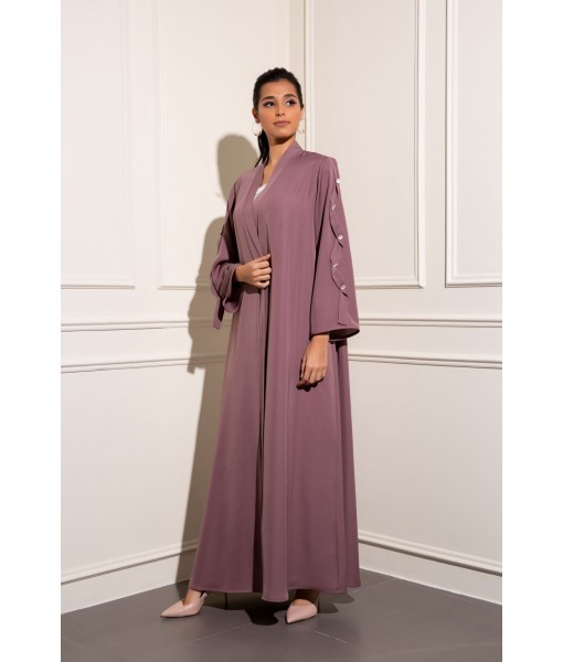 Classic abaya with tone on tone ...