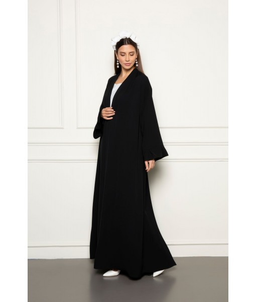 Classic abaya with box pleats details