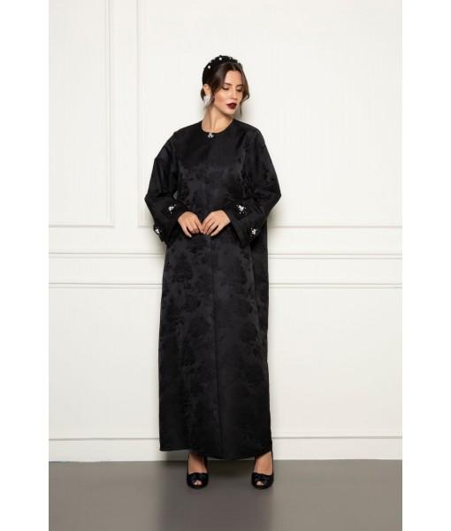 black jacquard coat style...
