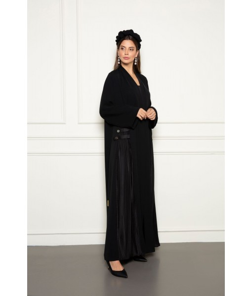 Side pleats panel abaya