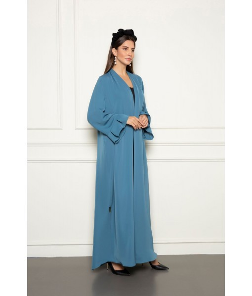 Classic abaya with box pleats details ...