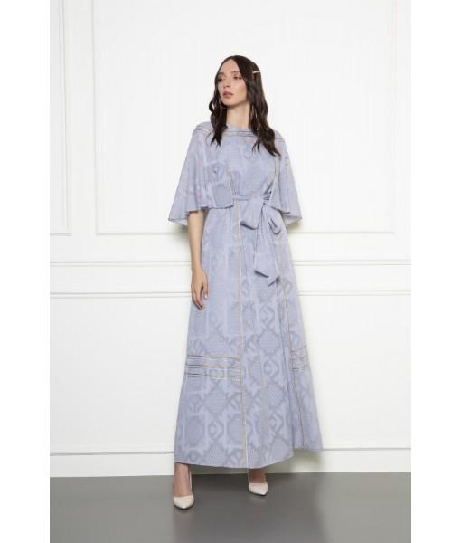 Gray cape style kaftan